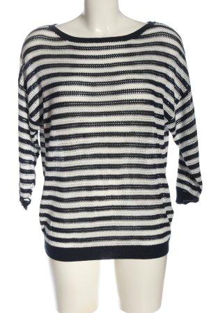 Esmara Feinstrickpullover schwarz-weiß Streifenmuster Casual-Look
