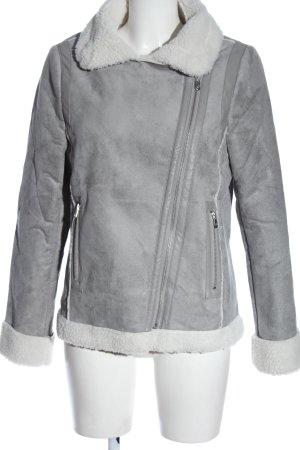 Esmara Fur Jacket light grey casual look