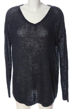 Esmara Gehaakte trui zwart kabel steek casual uitstraling