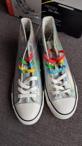 esmara Heidi klum mid-cut sneacker Schuhe gr. 39 silber