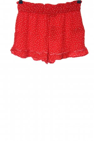 Esmara Hot Pants rot Punktemuster Casual-Look