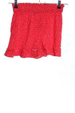 Esmara Minirock rot-weiß Punktemuster Casual-Look