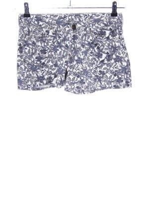 Esmara Hot Pants blau-weiß Allover-Druck Casual-Look