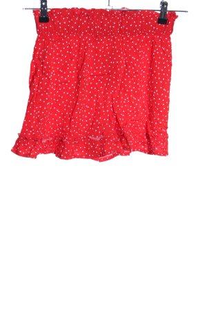 Esmara Hot Pants rot-weiß Punktemuster Casual-Look