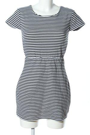 Esmara Jerseykleid weiß-schwarz Streifenmuster Casual-Look