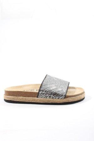 Esmara Komfort-Sandalen silberfarben-creme Casual-Look