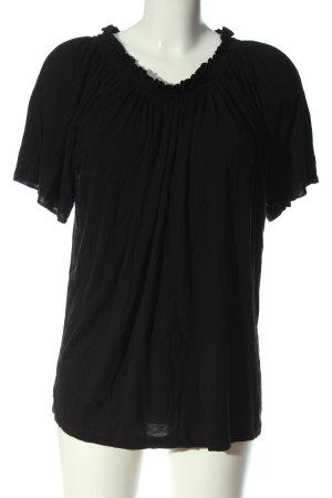 Esmara Kurzarm-Bluse schwarz Casual-Look