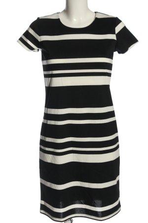 Esmara Kurzarmkleid schwarz-weiß Streifenmuster Elegant