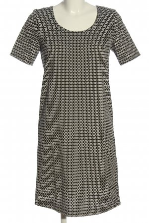Esmara Kurzarmkleid schwarz-creme abstraktes Muster Casual-Look