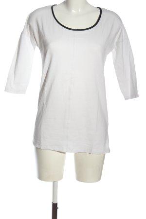 Esmara Langarm-Bluse weiß-schwarz Casual-Look