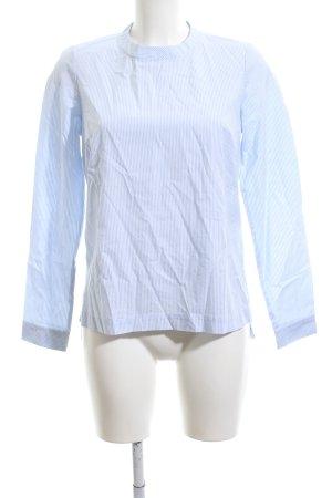 Esmara Langarm-Bluse blau-weiß Streifenmuster Business-Look