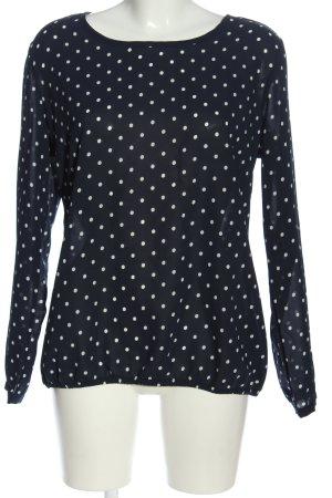 Esmara Langarm-Bluse schwarz-weiß Punktemuster Casual-Look