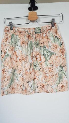 Esmara Lniana spódnica brzoskwiniowy-szaro-zielony