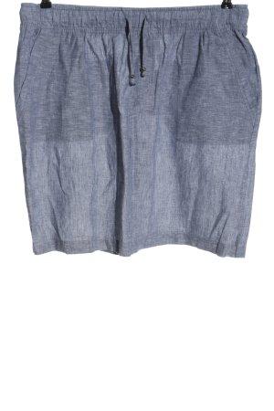 Esmara Lniana spódnica jasnoszary Melanżowy W stylu casual