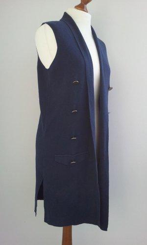 Esmara Chaleco de punto largo azul tejido mezclado
