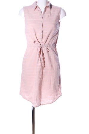 Esmara Minikleid pink-weiß Streifenmuster Casual-Look