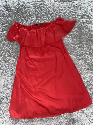 Esmara Off-Shoulder Kleid Rot Sommerkleid Kurz Gr. 40