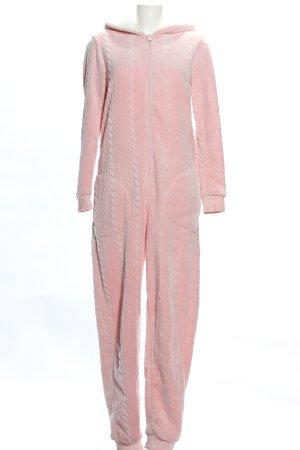 Esmara Kombinezon różowy Warkoczowy wzór W stylu casual