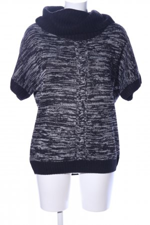 Esmara Oversized Pullover schwarz-hellgrau meliert Casual-Look
