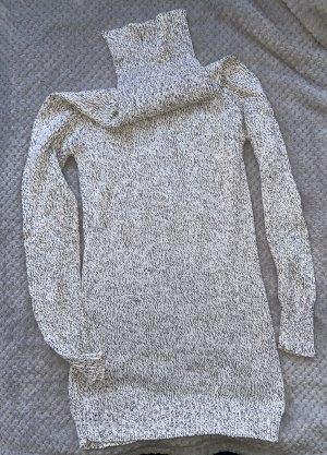 Esmara - Rollkragenpullover weiß/grau Gr. XS/34