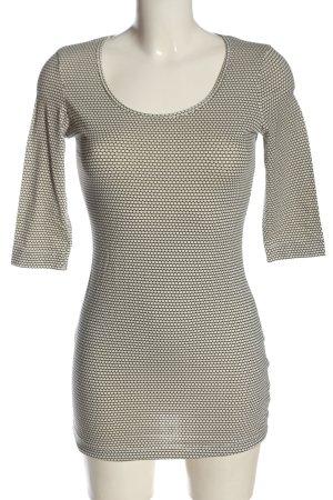Esmara Schlupf-Bluse schwarz-weiß Allover-Druck Casual-Look