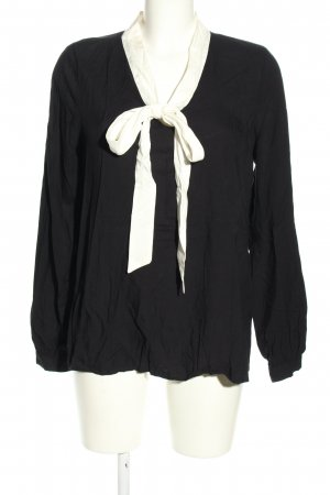Esmara Schluppen-Bluse schwarz-weiß Business-Look