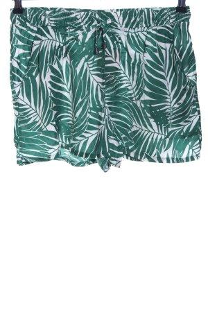 Esmara Shorts weiß-grün Allover-Druck Casual-Look