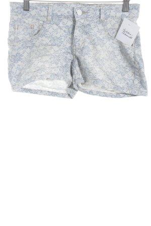 Esmara Shorts kornblumenblau-weiß Blumenmuster Street-Fashion-Look