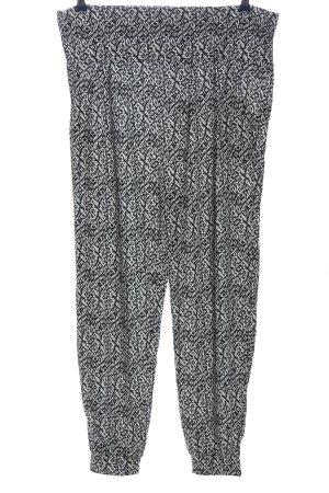 Esmara Stoffhose schwarz-weiß abstraktes Muster Casual-Look