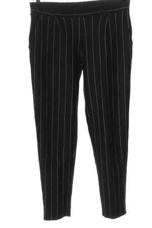 Esmara Stoffhose schwarz-weiß Streifenmuster Casual-Look
