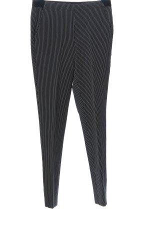 Esmara Stoffhose schwarz-hellgrau Streifenmuster Casual-Look
