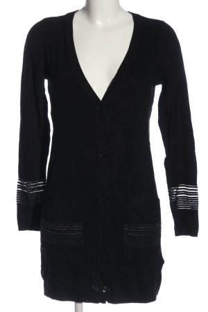 Esmara Cardigan in maglia nero-argento motivo a righe stile casual