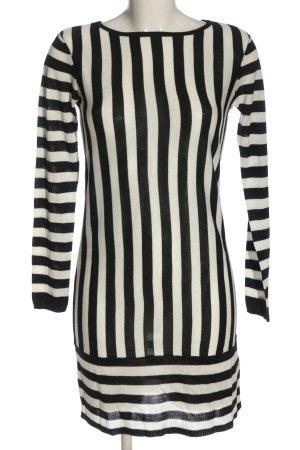 Esmara Abito di maglia bianco-nero motivo a righe stile casual