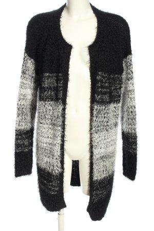 Esmara Strick Cardigan schwarz-weiß Farbverlauf Casual-Look