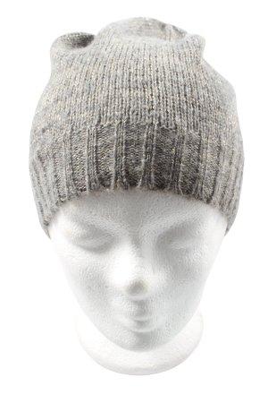 Esmara Chapeau en tricot gris clair moucheté style décontracté
