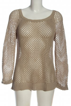 Esmara Knitted Sweater cream weave pattern casual look
