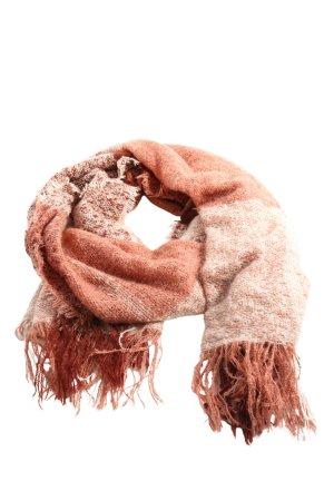 Esmara Bufanda de punto marrón-crema moteado look casual