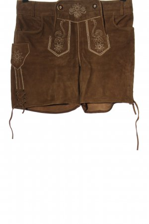 Esmara Trachtenlederhose braun-creme klassischer Stil