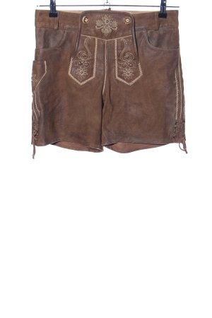 Esmara Pantalone in pelle tradizionale marrone motivo floreale stile classico