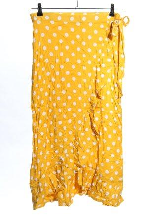 Esmara Gonna aderente giallo pallido-bianco stampa integrale elegante