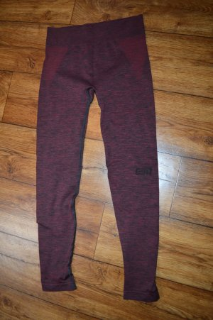 Pantalone da ginnastica bordeaux-nero