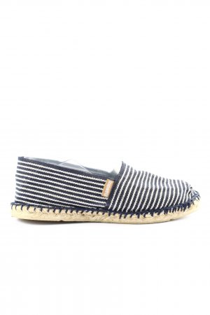 Espadrij Espadrille Sandals blue-white striped pattern casual look