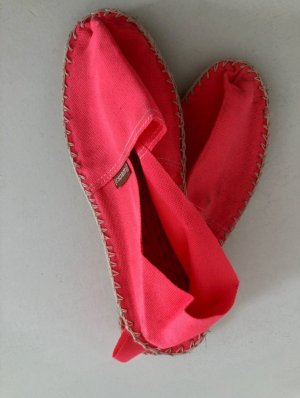Espadrij Espadrilles Schuhe Neonpink Sommer Gr. 38