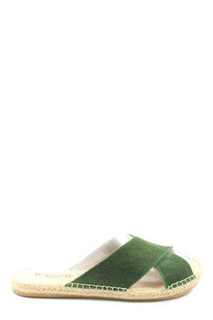 Espadrij Strandsandalen grün Casual-Look