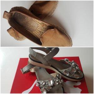 Espadrillen und Sandalen mit Steinen