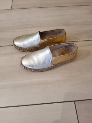 hogan rebel Espadrille sandalen goud