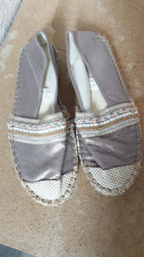 Espadrille Sandals silver-colored-gold-colored