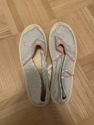 Colloseum Alpargatas azul bebé-rosa claro