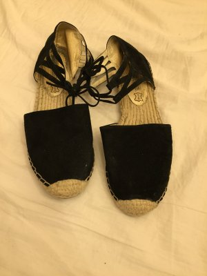 Buffalo Espadrille Sandals black-cream leather