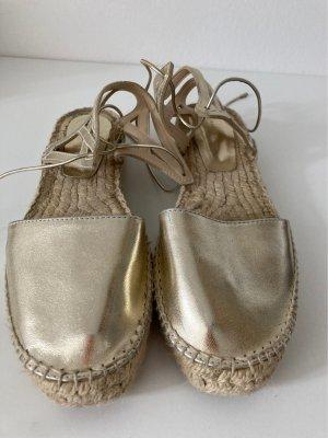 Zara Alpargatas color oro